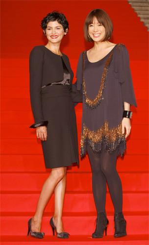 Audrey Tautou en la premiere de Coco Avant Chanel en Tokio