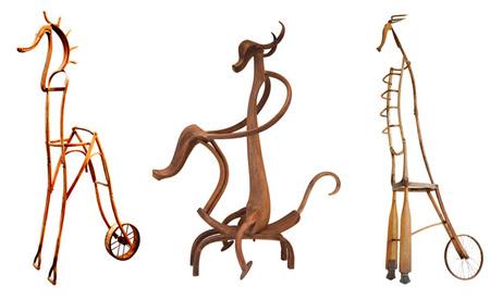 Animales hechos con muebles reciclados - 3