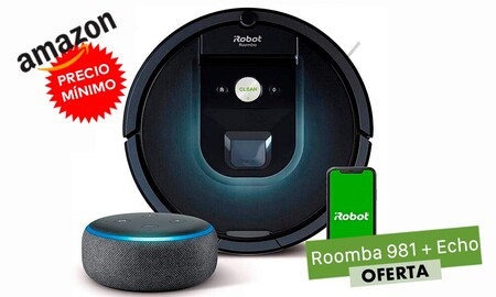Precio mínimo en Amazon para el Roomba 981 en pack con un Amazon Echo: ahora lo tienes por 479 euros