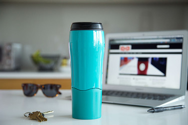 El mug Go, único con sistema anti derrame