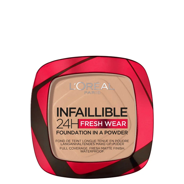L'Oréal Paris Polvos Compactos Mate Infalible 24H, Larga Duración, Cobertura Media-Alta