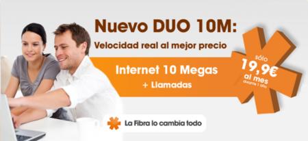 Euskaltel lanza una nueva modalidad de 10 Mb y jubila la de 5 Mb