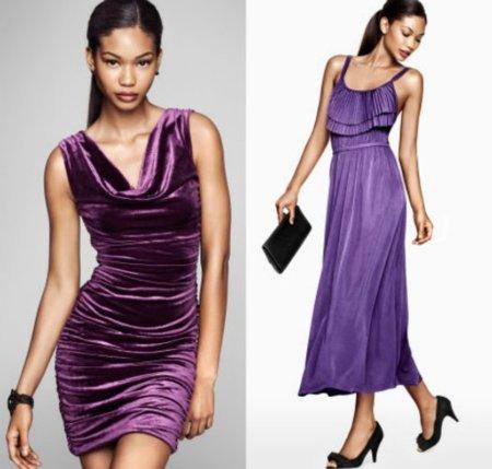 vestidos fiesta morados H&M