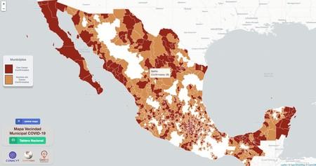 Mapa Vecindad Municipal Covid