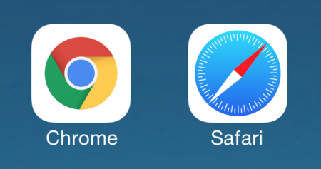 Chrome Safari iPhone