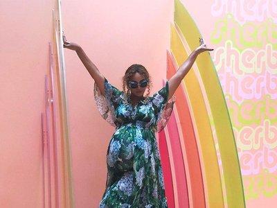 El estilo de Beyoncé sigue siendo el mismo con o sin barriga de embarazada: Gucci siempre la acompaña