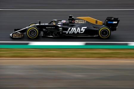 Grosjean F1 Silverstone 2019