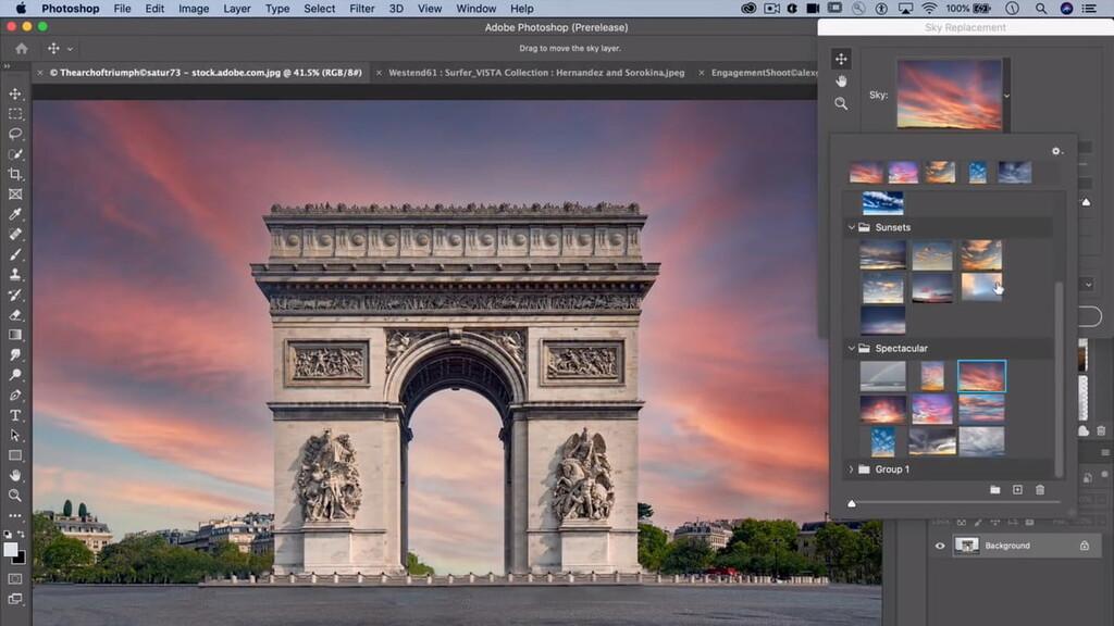 Adobe Photoshop promete crear perfectas puestas de sol fake gracias a su nueva herramienta de 'Reemplazo de cielo'