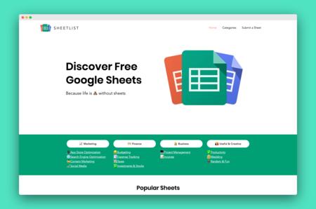 Sheetlist: descubre plantillas gratuitas para las Hojas de Cálculo de Google