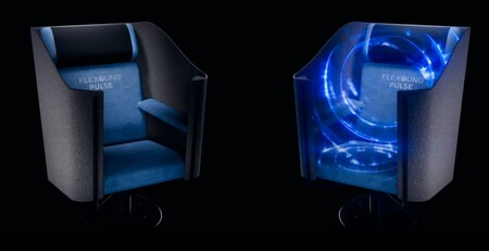 Este es FLEXOUND Pulse, un impresionante asiento que te ofrece sonido 5.1 mediante vibraciones y sin usar altavoces