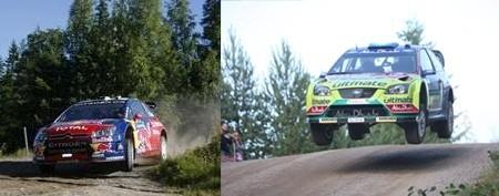 Hirvonen y Loeb siguen con su increíble batalla en Finlandia