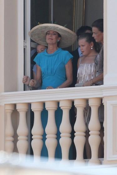 El glamour de Carolina de Mónaco: look con pamela