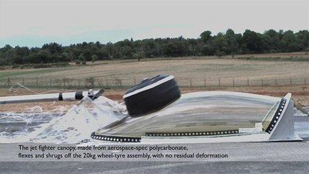 La FIA prueba cúpulas de aviones de combate para la F-1