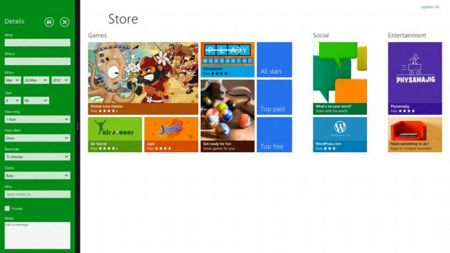 Windows 8, pantalla compartida