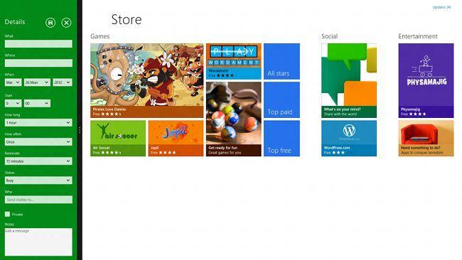Windows 8, pantalla compartida