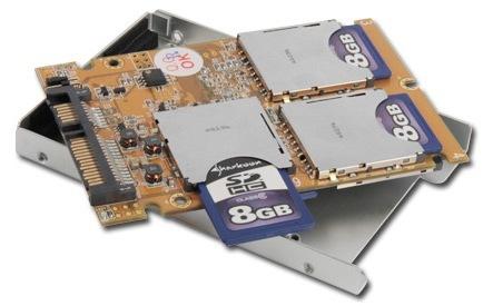 Sharkoon Flexi-Drive S2S, disco SSD a partir de memorias SDHC