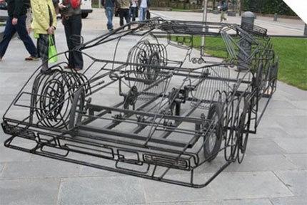 Lamborghini a pedales y de alambre