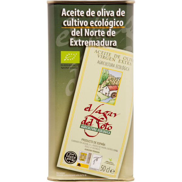 Aceite de oliva virgen extra ecológico 100% manzanilla cacereña lata 500 ml