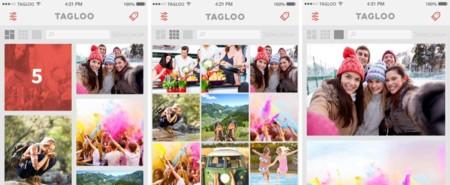 Estas son las tres posibles formas de ver las fotos en Tagloo