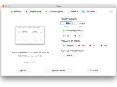 Rsizer: redimensiona, cambia de formato y optimiza tus imágenes de forma sencilla y rápida