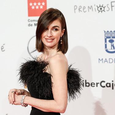 Paz Vega apuesta por las glamourosas plumas en los Premios Forqué 2020