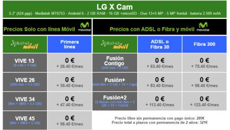 Precios Lg X Cam Con Tarifas Movistar