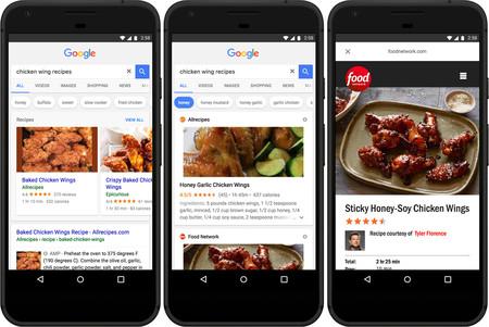 La aplicación de Google mejora la búsqueda de recetas con su nuevo carrusel de sugerencias