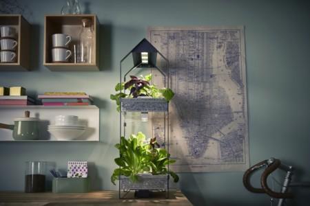 Ikea Coleccion Indoor Gardening 2016 Ph133378 Krydda Estante Plantas 2 Niveles Acero Negro Galvanizado Lowres