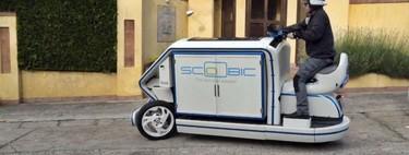 Scoobic es la moto eléctrica que te llevará la compra a casa mientras filtra la contaminación del aire