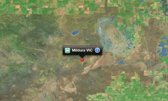 mapas apple australia mildura