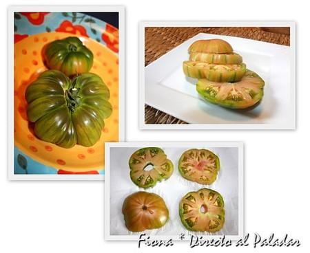 Tomates verdes, salar, reposar y escurrir