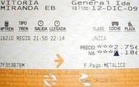 Los trenes españoles, más caros en 2010
