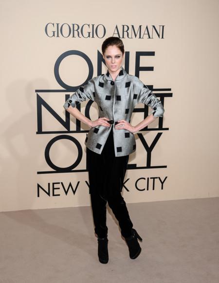 Coco Rocha en la fiesta One Night Only de Giorgio Armani en Nueva York, Octubre 2013