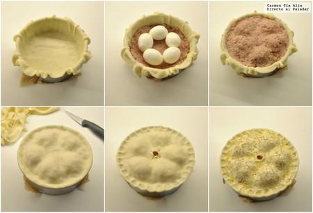 Paso a paso pastel inglés de cerdo y huevo