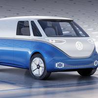 La furgoneta eléctrica Volkswagen I.D. Buzz Cargo, presentada en Hannover junto a otros 4 modelos