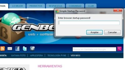 Impide que usen tu navegador Chrome con Simple Startup Password