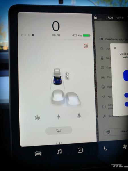 Tesla Model 3 Prueba pantalla