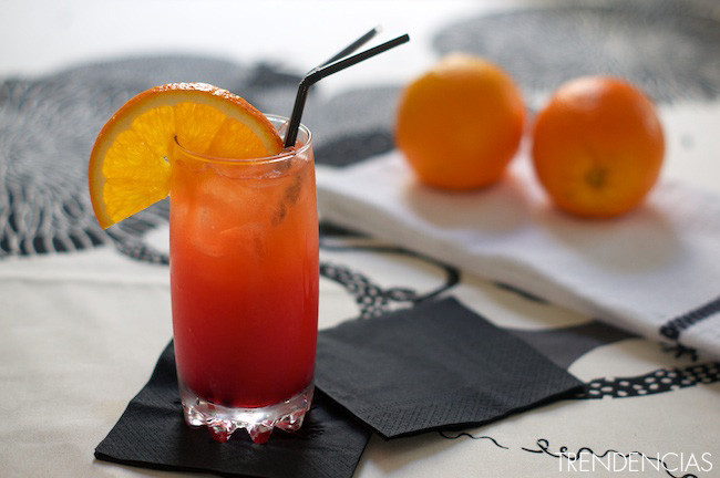 cócteles para el día de la madre - tequila sunrise