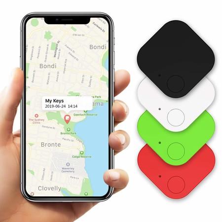 Buscador de Llaves, Kimfly Buscador de teléfonos, Buscador de Cualquier Cosa Localizador de Billetera/Equipaje/Mascota Anti-perdida Inalámbrico para iOS/Android (4 Piezas)