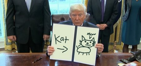En tiempos de zozobra e incertidumbre, Trump dibujando cosas es todo lo que necesitas para ser feliz