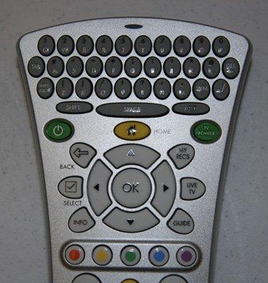 Control remoto con teclado QWERTY