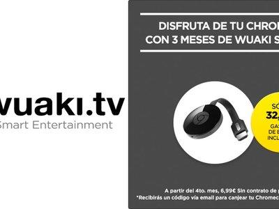 Google Chromecast + 3 meses de Wuaki Selection por sólo 32,99 euros