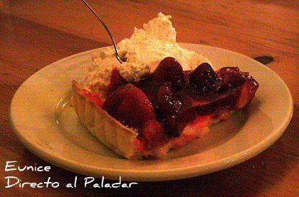 Receta de la tarta de crema con gelatina de frutas