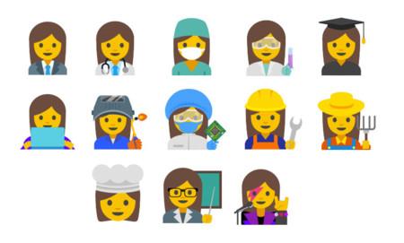 Emojis de género femenino