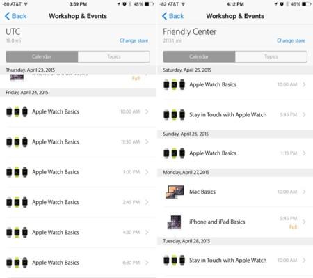 Apple ofrecerá talleres del Apple Watch en sus tiendas