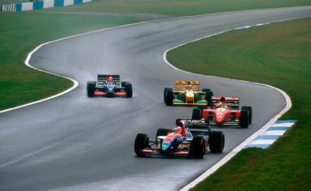 Rubens Barrichello, Jean Alesi, Michael Schumacher y Ukyo Katayama GP Europa F1 1993