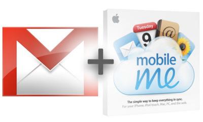 Utilizar una cuenta de MobileMe combinada con otra de Gmail, en iPhone / iPod touch