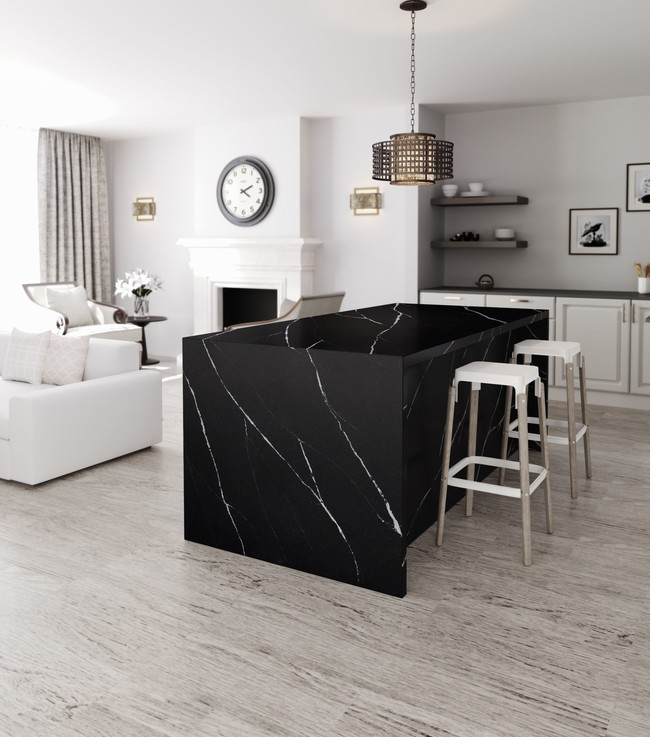 Kitchen Silestone Eternal Marquina Lr