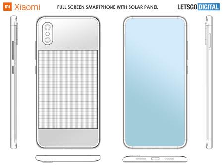Xiaomi Smartphone Panel Solar Patente