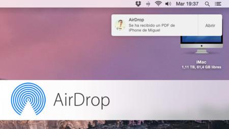 Así funciona AirDrop con iOS 8 y OS X Yosemite